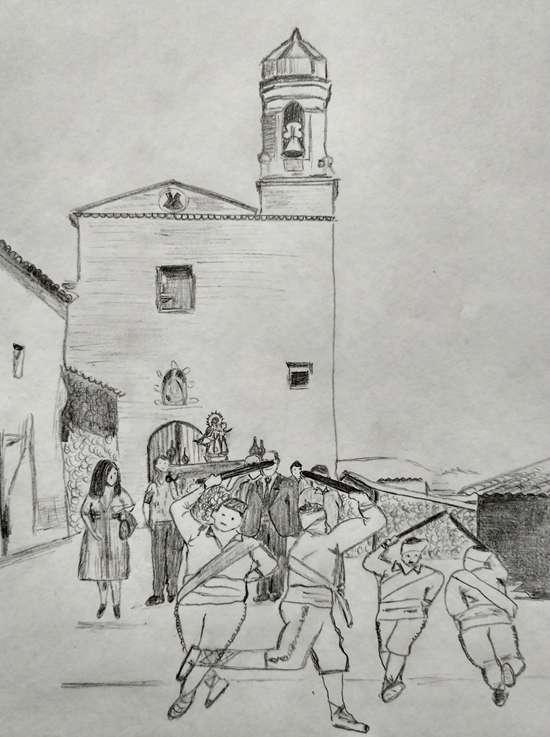 Los danzantes en la procesión de la Virgen del Rosario