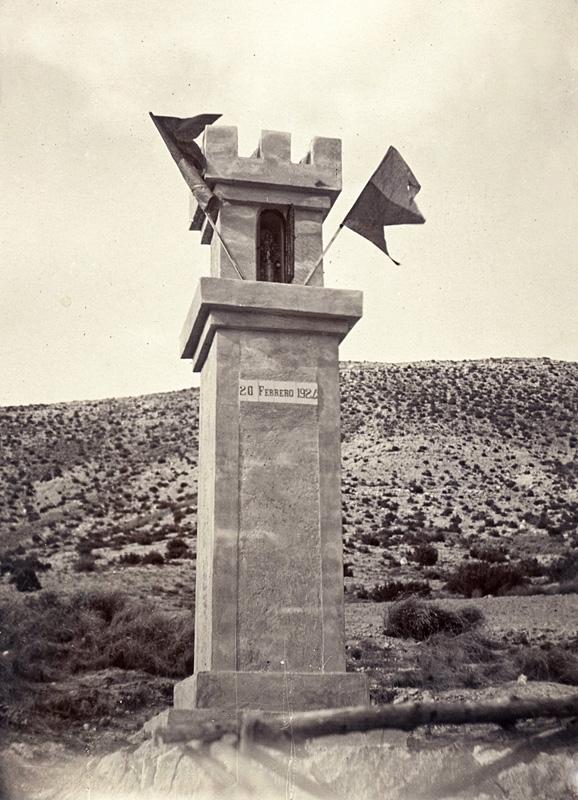 Peirón de la Virgen del Pilar erigido en 1924.
