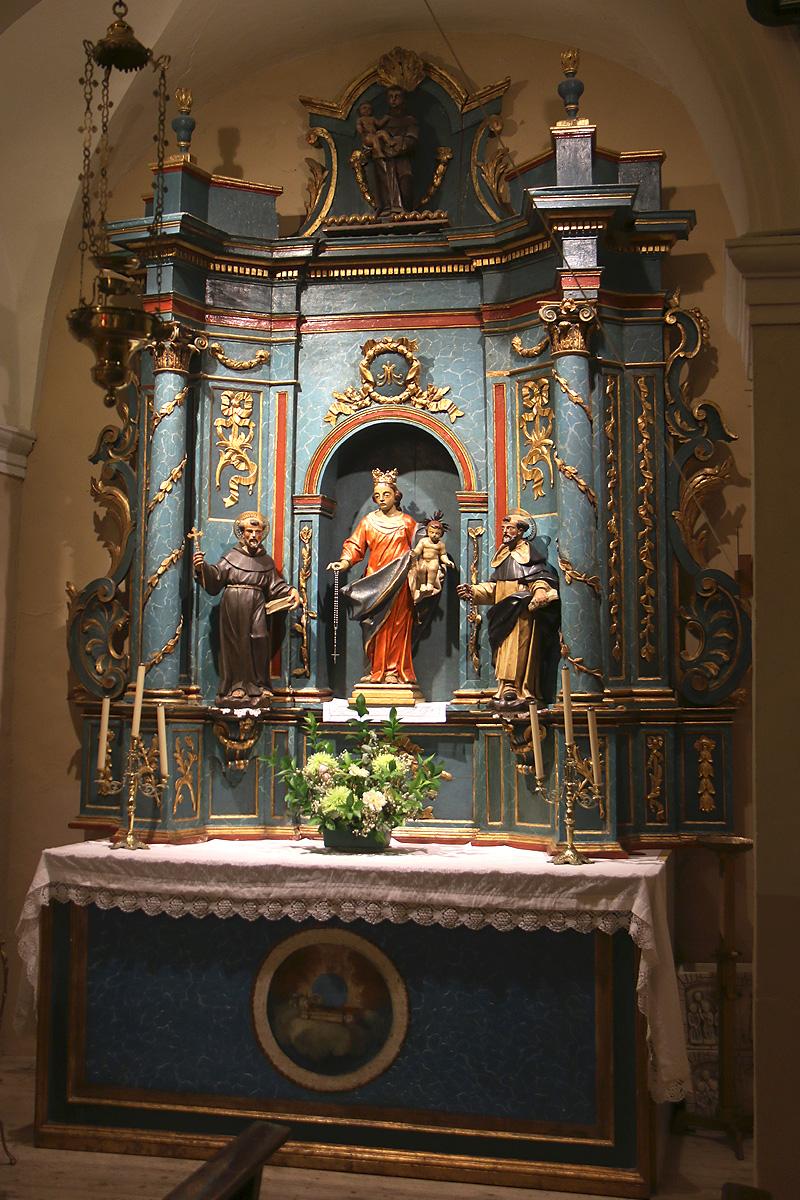 Capilla de la Virgen del Rosario, iglesia de Botorrita.