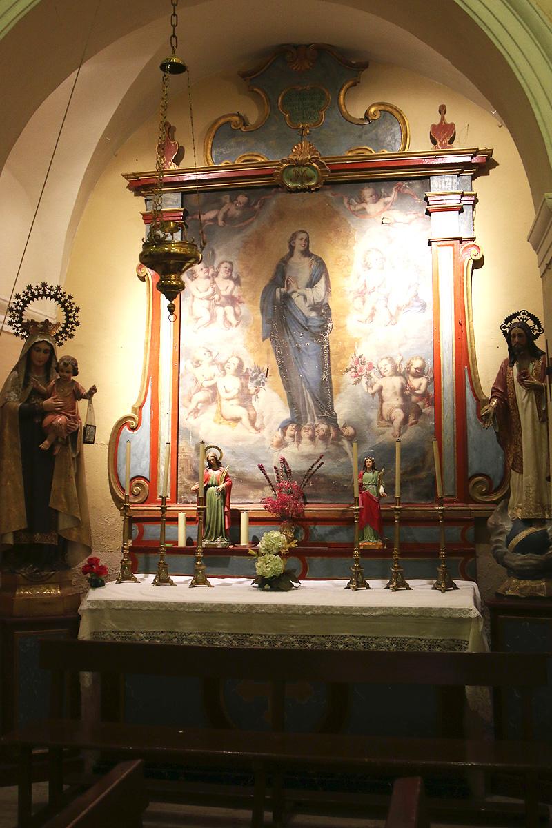 Capilla de la Inmaculada Concepción, iglesia de Botorrita.