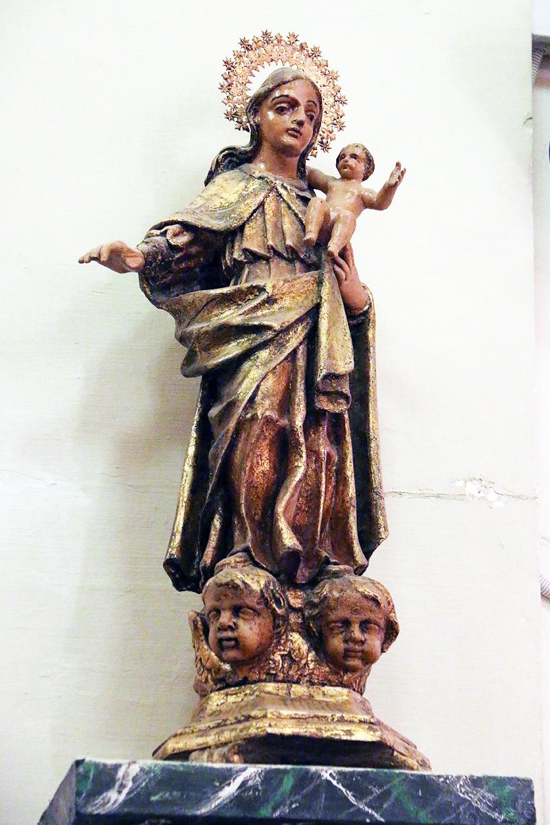 Virgen del Rosario, iglesia de Botorrita.