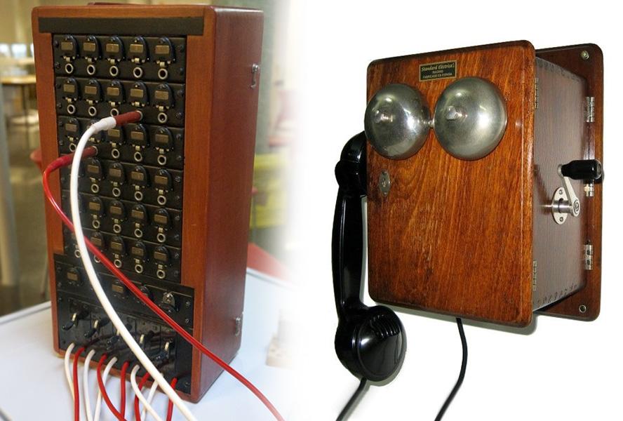 Teléfono con magneto y centralita para un máximo de 30 abonados, así era la central de Botorrita en los años 70.