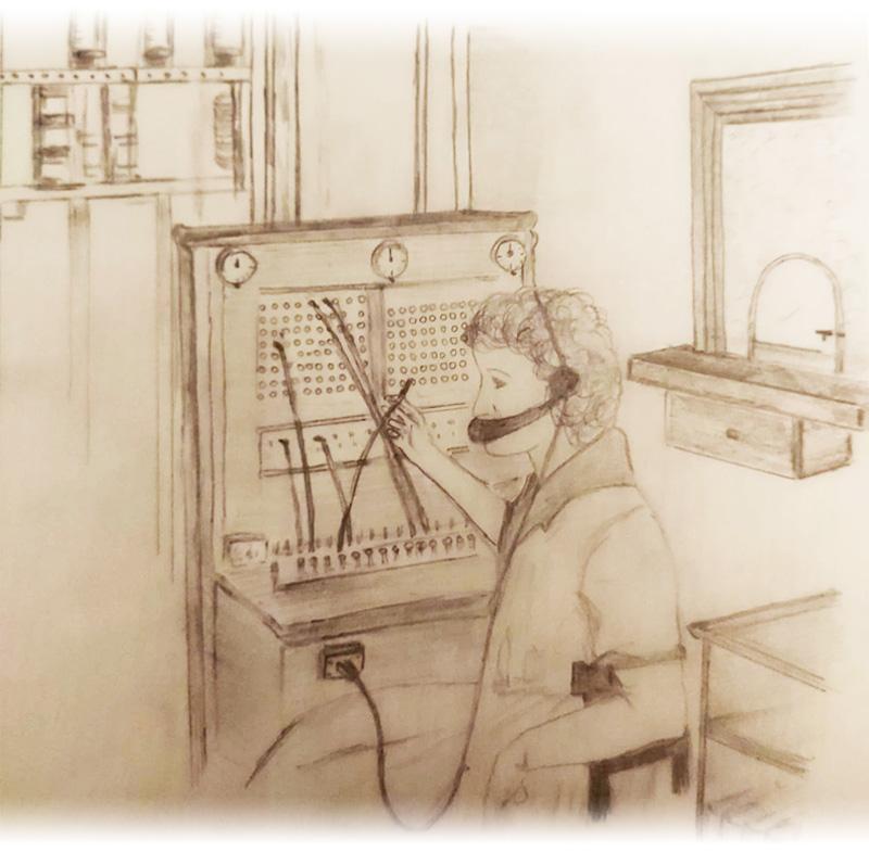 Centralita telefónica de Botorrita en los años 80